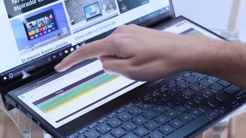 Utilizando ScreenPad Plus en el ZenBook Pro Duo