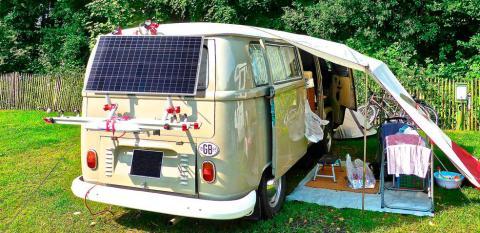 Placa solar furgoneta