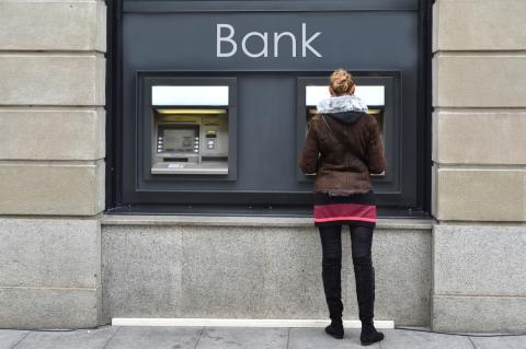 Banco cajero