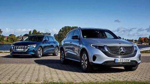 comparativa del Mercedes EQC vs Audi e-tron