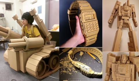 Esculturas de cartón