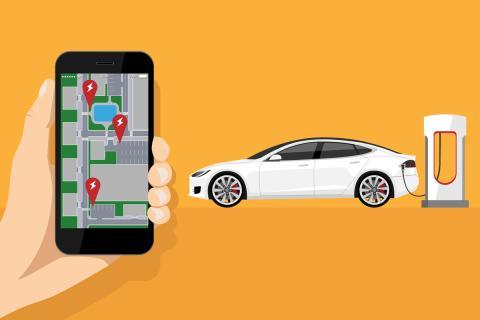 Mapa coches eléctricos