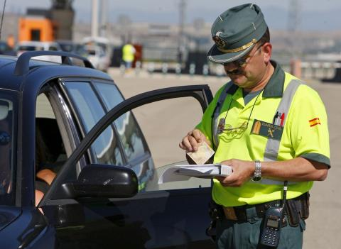 Multa de tráfico Guardia Civil