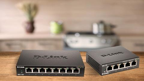 switches D-Link DGS 105 y DGS 108