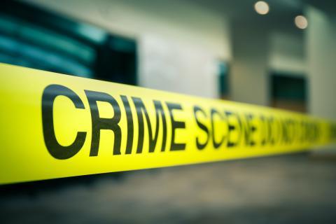 Banda amarilla escena del crimen