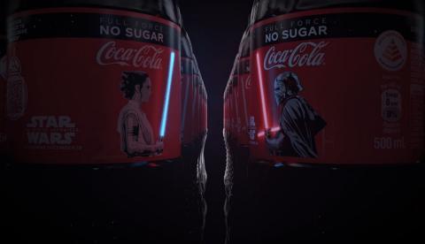 Coca Cola con pantalla OLED