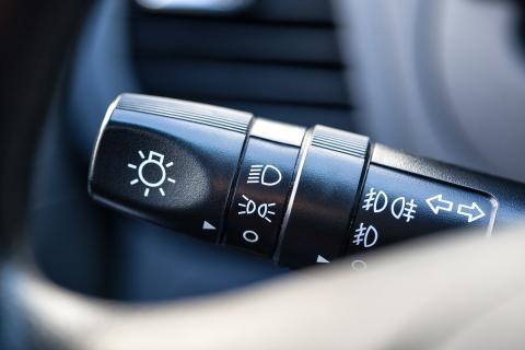Palanca luces antiniebla coche