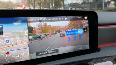 Realidad aumentada navegador Mercedes