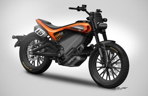 Boceto moto eléctrica Harley-Davidson