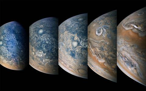 Fotos de Júpiter tomadas por la sonda Juno de la NASA