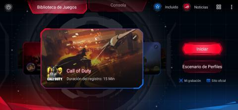 Modo juego de Asus ROG Phone 2