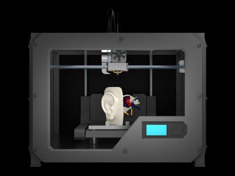 Oreja impresora 3D