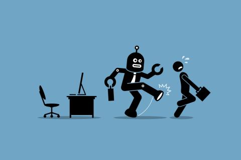 Robots vs humanos trabajo empleos