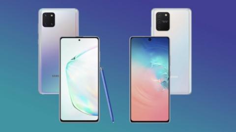 Samsung Galaxy S10 Lite y Note 10 Lite