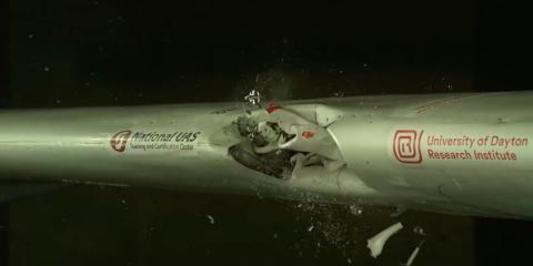 Choque de un dron y un avión