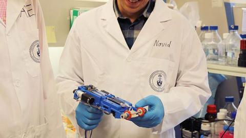 Dispositivo portátil para imprimir piel