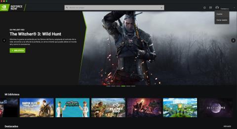 GeForce Now Interfaz App