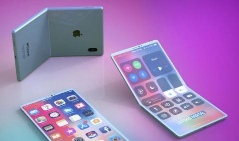 imagen render, iphone plegable