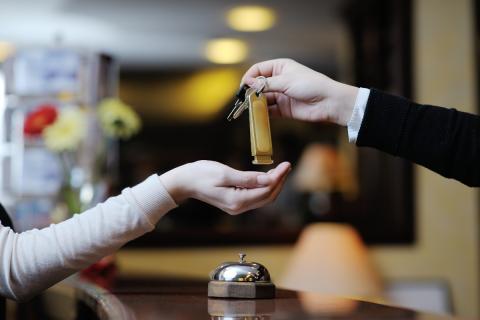 Llaves hotel en recepción