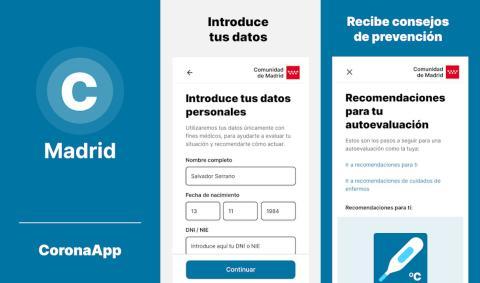Aplicación CoronaMadrid Google Play