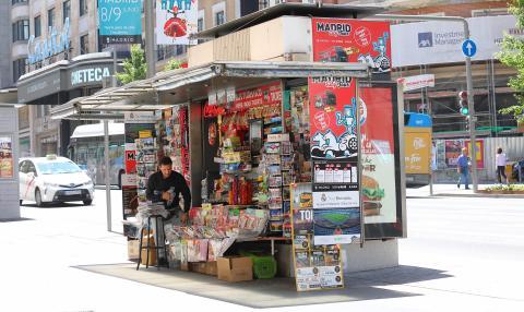 kiosko de prensa en Madrid