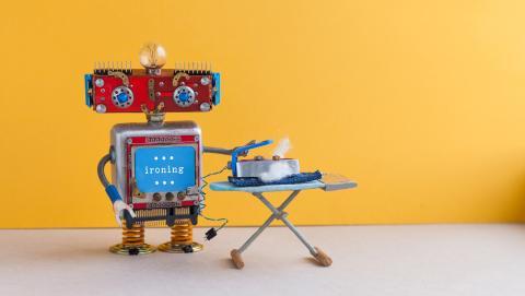 Robot que plancha