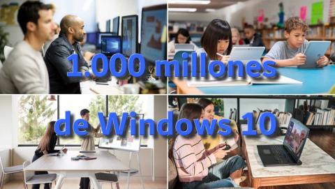 1000 millones de Windows 10