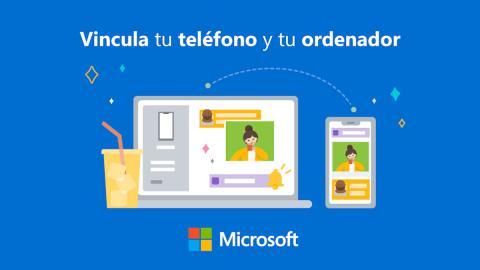 Aplicación Tu teléfono para compartir archivos con Windows y Samsung