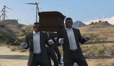 meme gta v coffin