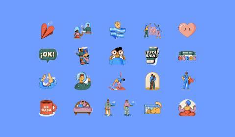 Stickers Juntos en casa