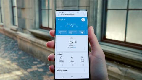Móvil Samsung sin cámara frontal