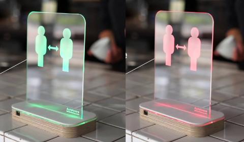 Sensor de distancia social Aura Aware