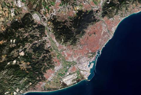 Barcelona desde el espacio