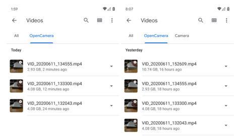 Android 11 vídeos