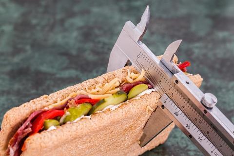 sandwich con alimentos sanos para adelgazar