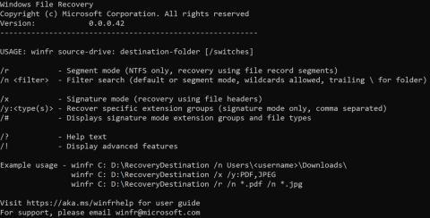 Windows File Recovery de Microsoft