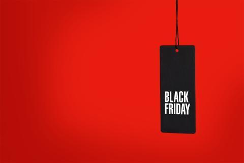 Imagen de una etiqueta con Black Friday
