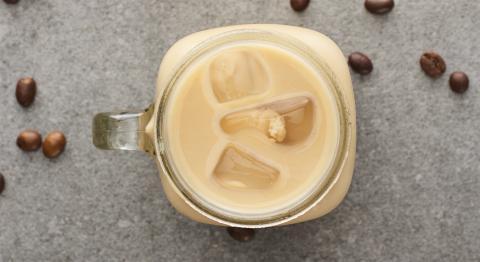 Café frío con hielo