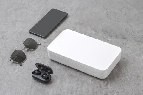 Esterilizador UV y cargador inalámbrico de Samsung