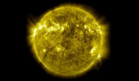 Foto del Sol tomada por la NASA