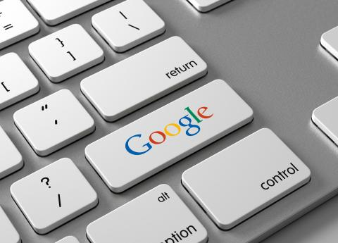 Google logo teclado