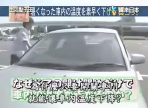 Método japonés para enfriar coche