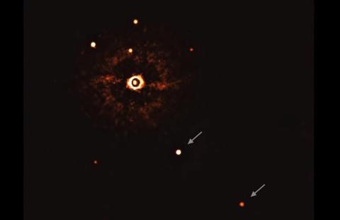 Exoplanetas orbitando estrellas