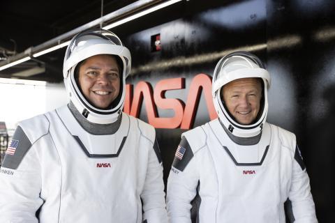 Astronautas de la NASA en la misión con SpaceX