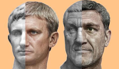 Estatuas romanas con inteligencia artificial