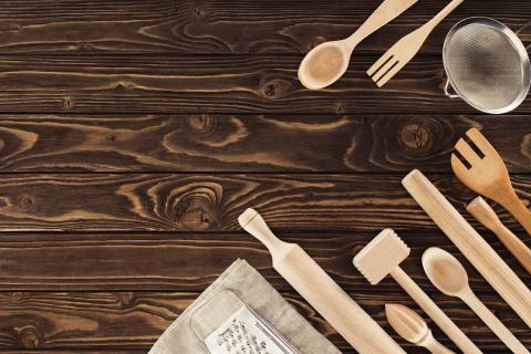 cubierto madera