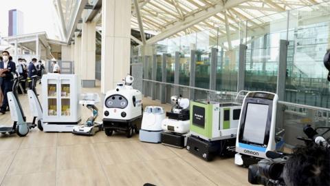 Robots desinfectantes Tokio