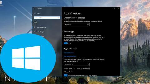 Windows 10 archivas aplicaciones