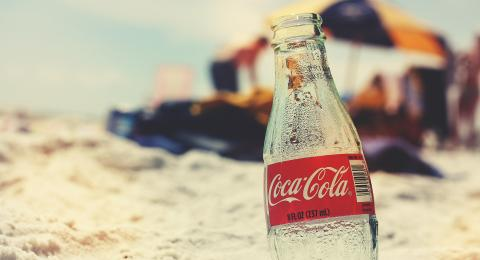 Botella de coca cola