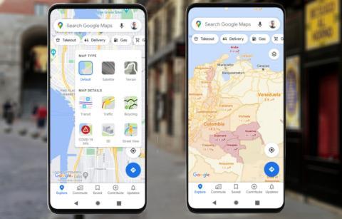 Google Maps con capa Covid-19